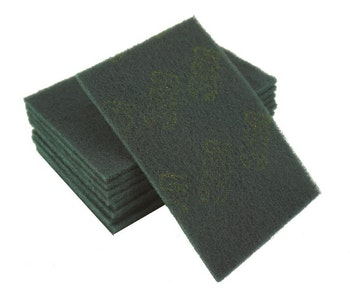 "Scotch Hand Pad 6"" x 9"" Green - 10 Pack"