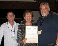 Gold Award for Parks with less than 50 sites Shelly Beach Caravan Park Anna and Lynton Brown
