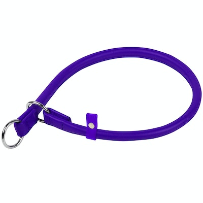 WauDog by the Collar Company Waudog Galmour Round Leather Slip Collar Size: Length  70cm, diameter 13mm