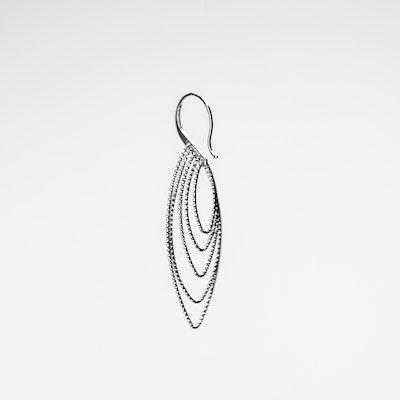I Dream of Silver Oval Coil Drop Earrings