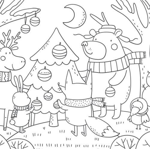 Christmas Season - Free Colouring-in Sheet