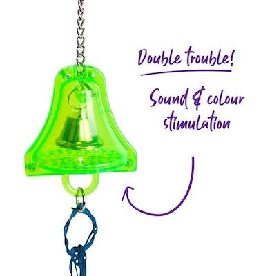 Kazoo Acrylic Bell W Wicker Rings Small