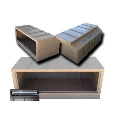 URS Deluxe Reptile Vivarium w/ Heat & Light Package No Dome Sandstone - 2 Sizes