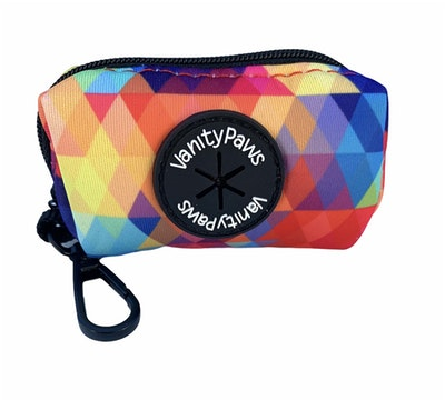 VanityPaws Abstract Rainbow - Waste Bag Carrier