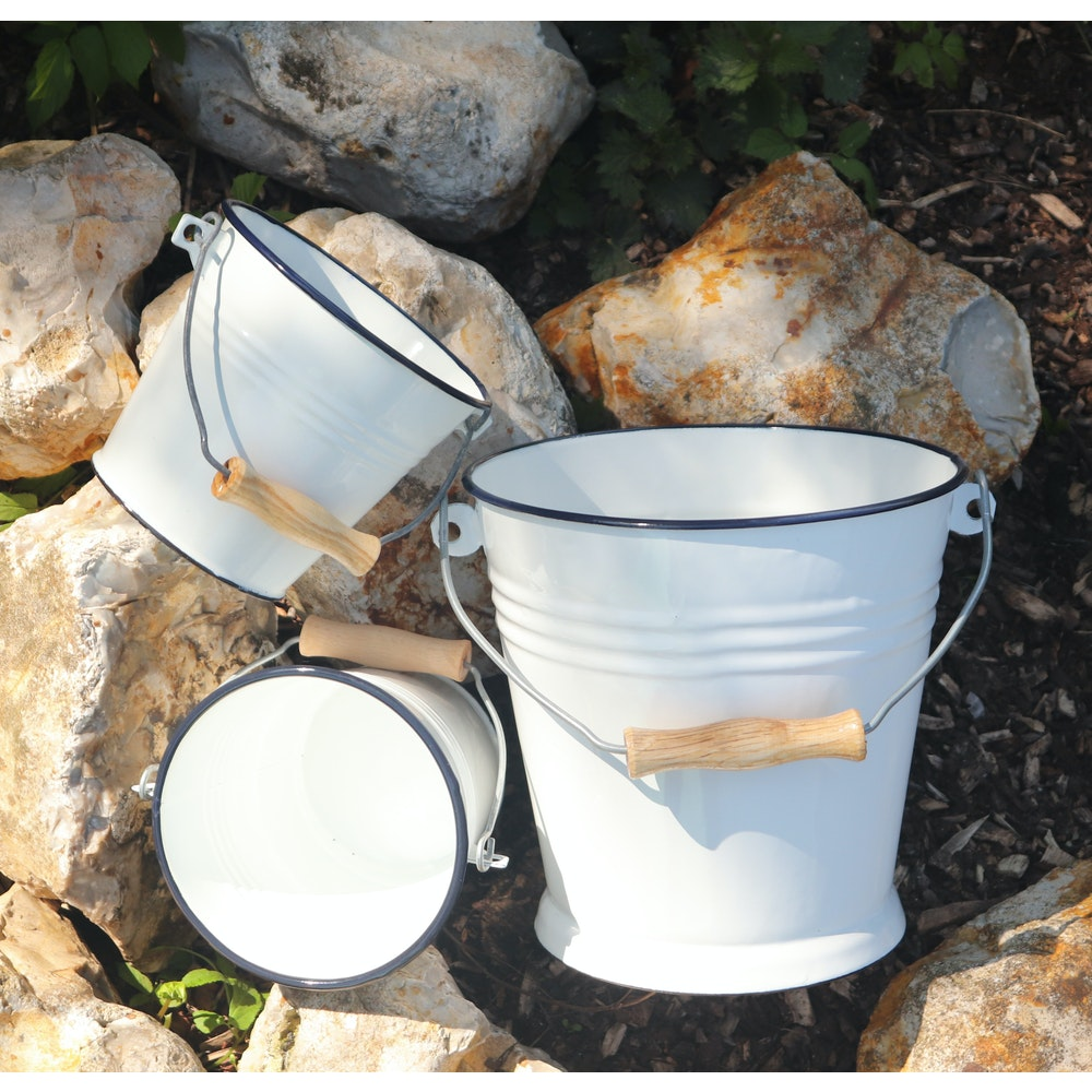 Natural Spa Supplies Enamel Steel Buckets