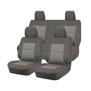 Premium Car Seat Covers For Nissan Navara D23 Series 2015-2017 Dual Cab | Grey