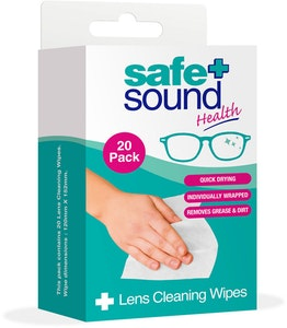 Safe + Sound Lens Cleaning Wipes 20pack