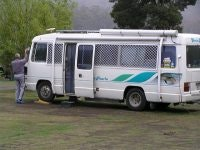 Motorhome on site Wayatinah