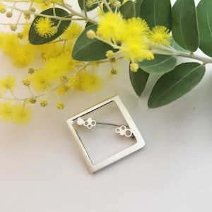 Brooch | Square bubble Sterling Silver Brooch