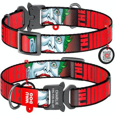 WauDog by the Collar Company WauDog Nylon Dog Collar -Joker - Sizes: X-Small, Small, Medium, Large