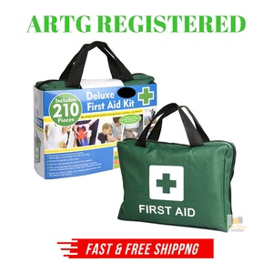 6x 210PCS EMERGENCY FIRST AID KIT Medical Travel Set Workplace Office ARTG BULK