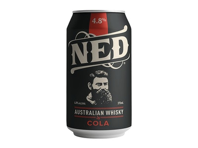 Ned Whisky & Cola Can 4.8% 375mL 4 Pack