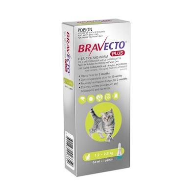 BRAVECTO Plus Cat 1.2KG - 2.8kg 1 Pack