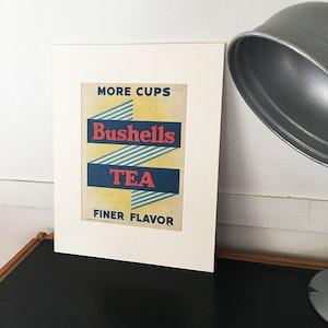 Vintage Bushells Tea Advertisement | Vintage Print
