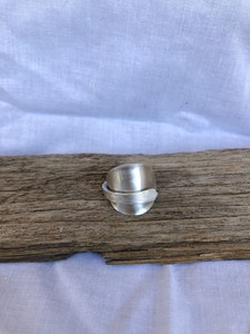 """Silver """"Tea time"""" Ring (Size Q)"""