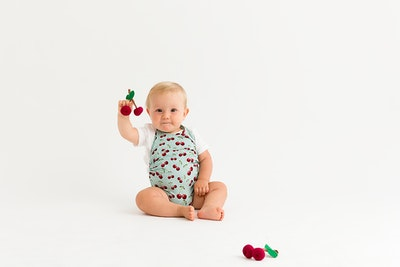 Commando Baby - Cherries Aqua