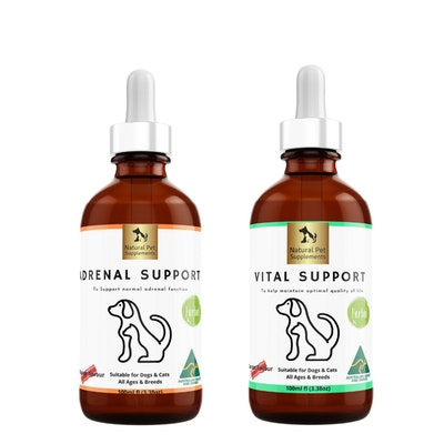 Natural Pet Supplements Cushings Kit Herbal Tinctures For Dogs and Cats
