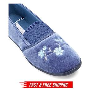 GROSBY SASHA (GA) Ladies Slippers Comfy Shoes Slip On Moccasins Warm Flats New