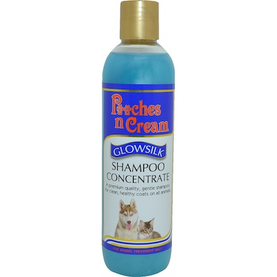Equinade Pooches n Cream Glowsilk Shampoo Concentrate Skin Coat Care Dog - 2 Sizes
