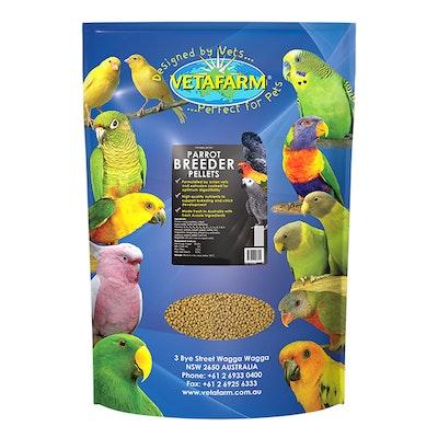 Vetafarm Parrot Breeder Pellets Food for Breeding & Baby Birds - 3 Sizes