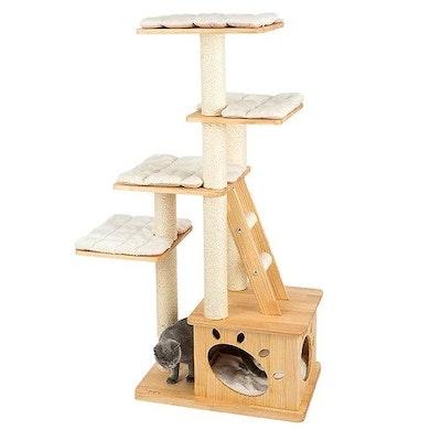 Honeypot CAT® Solid Wood 5-Level Cat Tree 1.46m