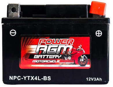 Power AGM 12V 3AH 100CCAs Motorcycle Battery
