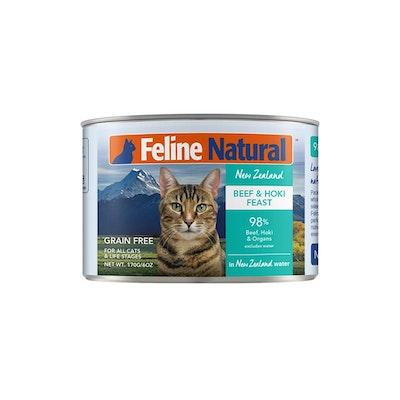 FELINE NATURAL Canned Beef & Hoki 170G