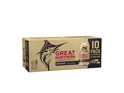 Great Northern Super Crisp Can 375mL 10 Pack
