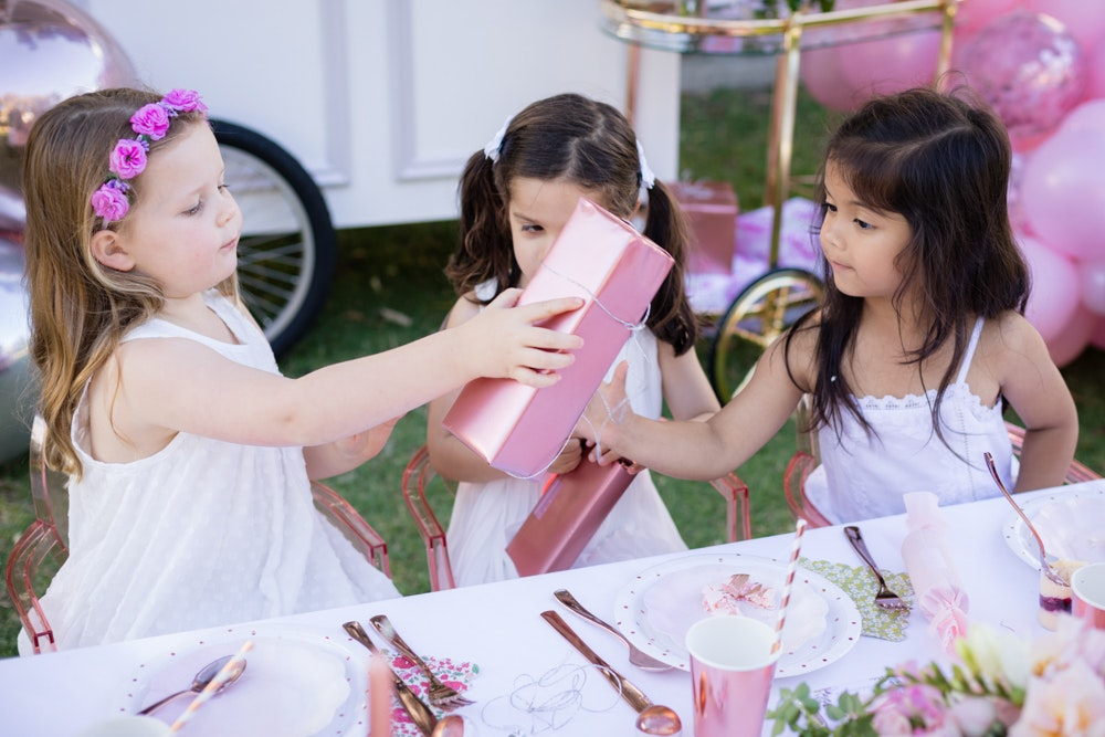 Pink Kids Christmas Party