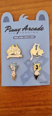 Rare Pinny Arcade Pins Pax Aus 2013 Set