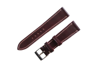 Artisan Straps - Shell Cordovan Leather Strap in Burgundy