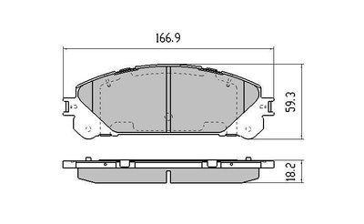 RDA EXTREME REAR BRAKE PADS for FIAT DUCATO *W/Sensors 6/2011 Onwards RDX2078
