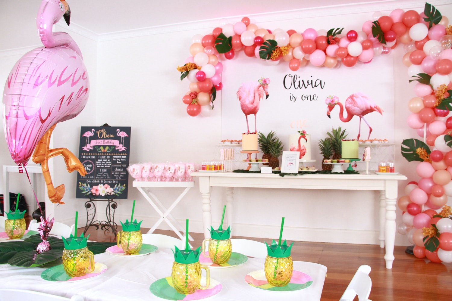 Shop The Look First Birthday Party Flamingo Themed
