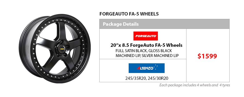 """20""""x8.5 Forge Auto & Altenzo wheel & tyre package $1599"""