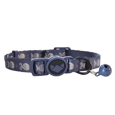 La Doggie Vita Go Fish Indigo/Taupe Collar