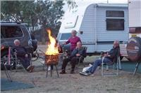 Social  base camp with the Choofer  fired up Blackall Queensland.