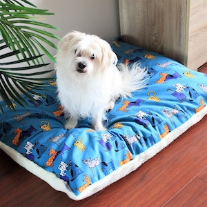 Queenie's Pawprints Eco Pet Bed/Cushion - Perfect Snooze | Cats vs Dogs