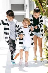 Beau Hudson Black and White Premium Knit Cardigan