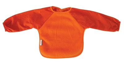 Silly Billyz Orange Fleece Long Sleeve Bib