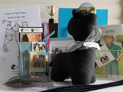 Archie the Black Alpaca Bumper Gift Pack