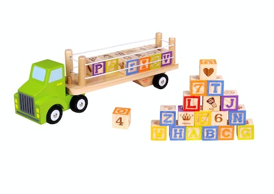 Tooky Toy ALPHABET & NUMBER TRUCK
