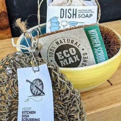 Scenic Rim Pottery Eco friendly dishwashing set