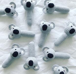 Hand Crocheted Koala Rattle