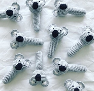 Hand Crocheted Koala Rattle