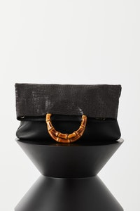 "VASH - Elise Tote ""Black Bubble Leather'"