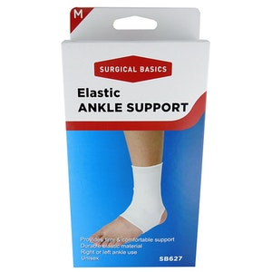 Surgical Basics Elastic Ankle Support Medium White