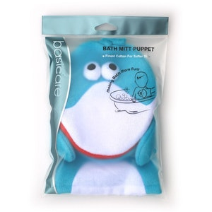 Basic Care Bath Mitt Puppet Dolphin